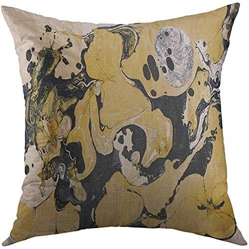LisaArticles Kussenhoes, kleurrijk goudgouden zwart marstijn collectie schilderij mooie grijze kunstenaarse klitten-aantrekkelijk nieuw kussenslopen