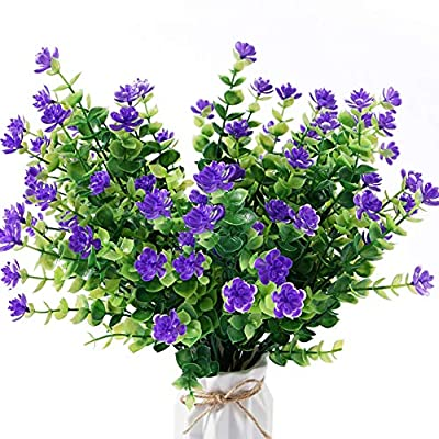 Beferr Artificial Flowers 4 Bunches of Shrub Fa...