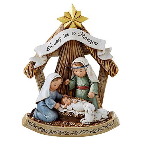 Away in a Manger Christmas Nativity Scene Figure, 5 Inch