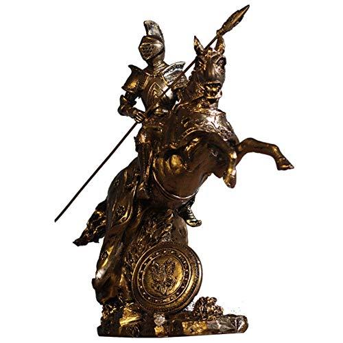 Marks Decoración del hogar Armadura Medieval Samurai Escultura Probar Decoraciones Vintage Knight Estatua Creativa Artesanías Amigable Resina Resina Inicio Oficina Decoración Oficina Compañía Bar Bar