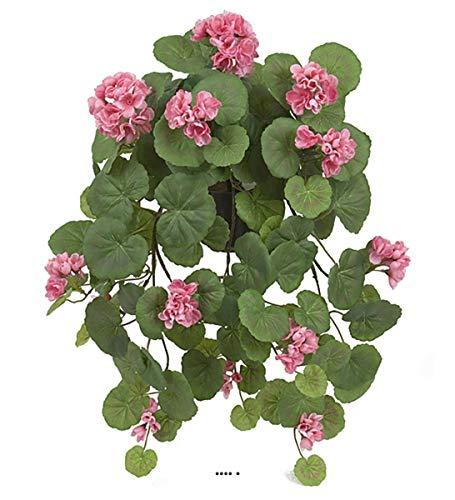 Artificielles.com – geranio artificial en maceta – 50 cm – Color rosa