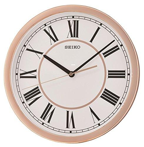 Seiko QXA665P Romeinse Numerale Wandklok - Rose gouden kast, 32,2 x 32,2 x 4,8 cm