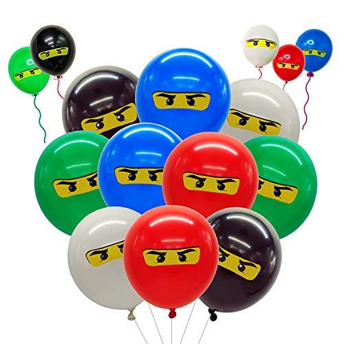 Ninjago Geburtstag,50 Stück Latex Luftballon für Ninjago,Luftballons Geburtstag Party Ballondekoration,Partydekorationen für Kindergeburtstag und Mottoparty