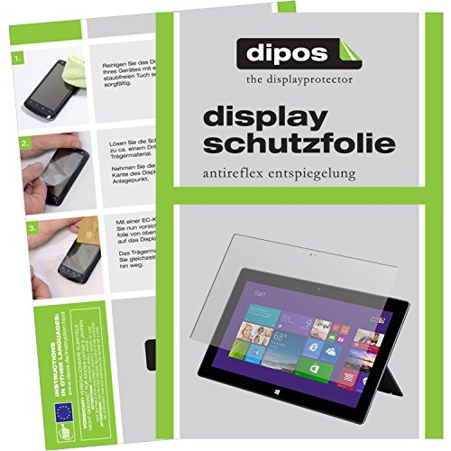 dipos I 3X Schutzfolie matt kompatibel mit Microsoft Surface 3 (10,8 Zoll) Folie Bildschirmschutzfolie