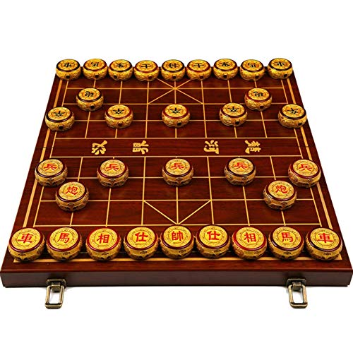 JXJ Ajedrez Chino Plegable portátil, un Tablero de ajedrez Dos Acción de Gracias (Tamaño: 55 cm * 60 cm * 6 cm)