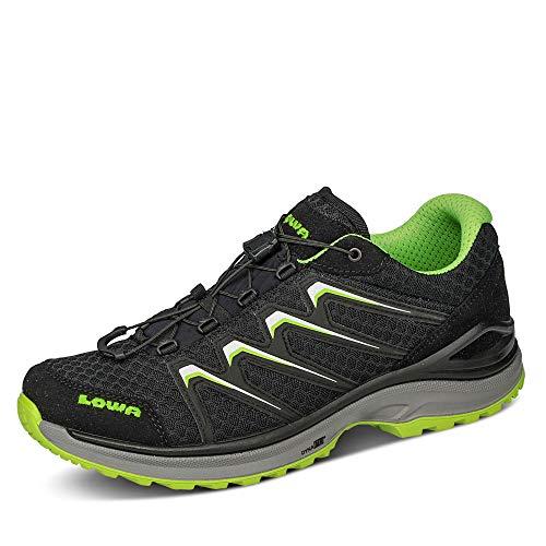 Lowa Maddox 310656 Herren Outdoorschuh Sportschuh Textil Profilsohle Schnürung, Groesse 42, schwarz/grün