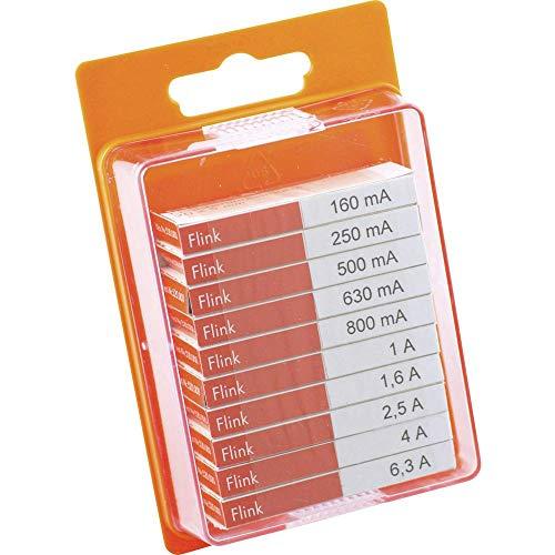 ESKA 12009 Feinsicherung-Sortiment (Ø x L) 5 mm x 20 mm Flink -F- Inhalt 100 St.