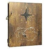 Amazon Brand - Umi Rustikal Fotoalbum 10x15 aus Holz Cover mit Seeschiffahrt Motiv für 120 Bilder