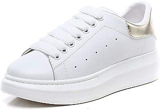 Zapatillas de Deporte para Mujer Sneakers Plataforma 4.5cm Zapatillas Deportivas de Malla Ligera Gold EU 38