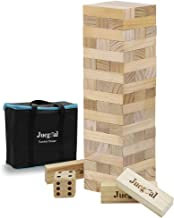 giant sized wooden jumbling tower