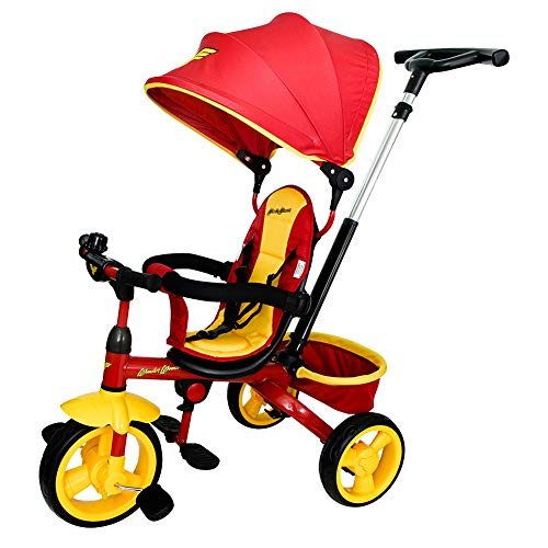 KidsEmbrace 4-in-1 Push and Ride Combination Stroller Tricycle, Toddler Trike, DC Comics Wonder Woman