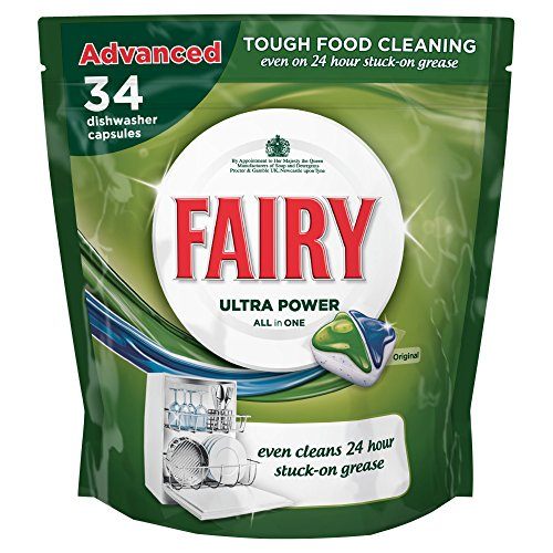 Fairy Auto Dishwash Tablets All in One Original - 34 Tablets