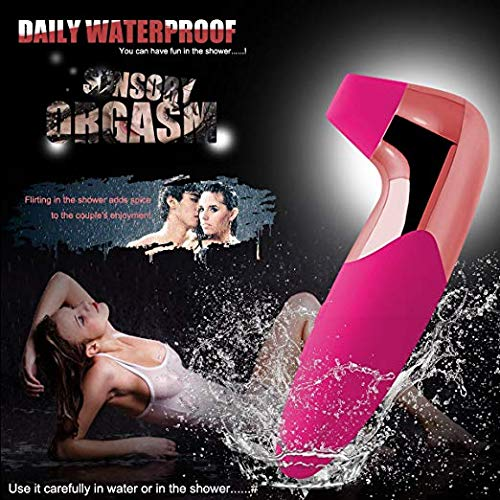 Exquisite Workmanship Couple Love Stimulation Vibrate Wand Massager with Vibration & suction Modes, Neck Shoulder Back Body Massage Wireless Waterproof Toy