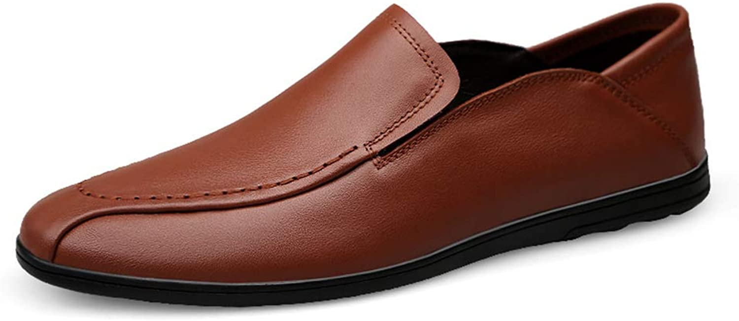 Men's shoes Casual Flat Loafers Spring Fall Comfort Loafers & Slip-Ons Business Lazy shoes,C,37