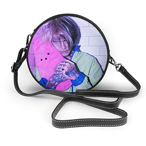 XCNGG Li-L Peep Ladies Fashion Round Crossbody Zipper Shoulder Bag Soft Leather Ring Wallet Mobile Phone Bag Coffee