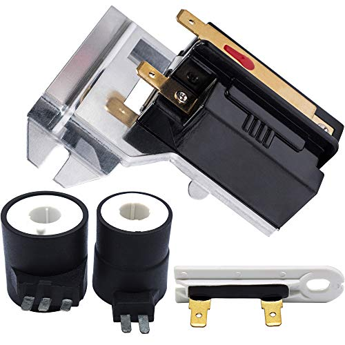 338906 Dryer Flame Sensor & 279834 Gas Valve Ignition Solenoid Coil Kit & 3392519 Thermal Fuse by Blue Stars – Exact Fit For Whirlpool Maytag Kenmore Dryers - Replaces WP338906 303377 DC32-00008A