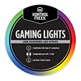 KontrolFreek Gaming Lights: LED Strip Lights, USB Powered with Controller, 3M Adhesive for TV, Console, PC, Wall (9 ft)