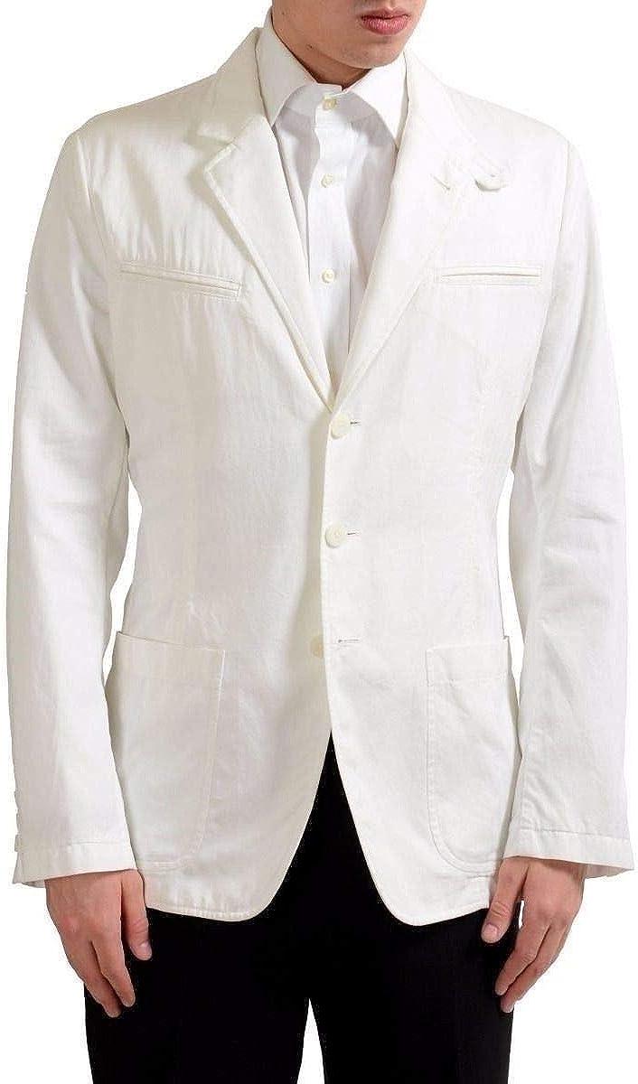 Dolce & Gabbana Men's White Four Button Blazer Sport Coat US 38 IT 48