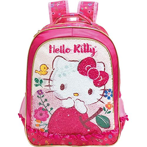 Mochila 16 Hello Kitty Magic Touch - 8792- Artigo Escolar Hello Kitty, Pink