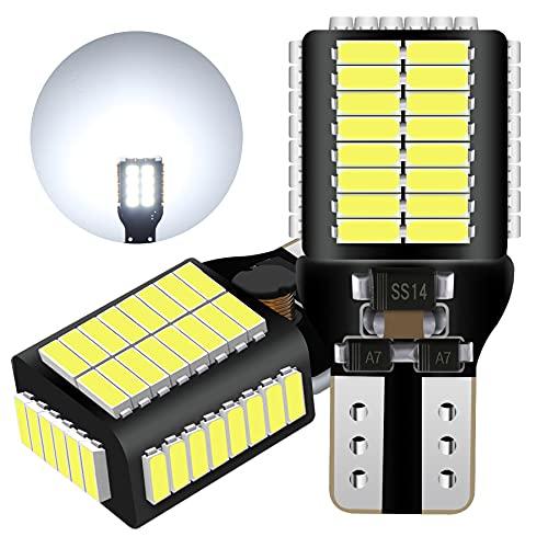 LUMENEX T15 W16W LED Ampoule CANBUS Sans Erreur 54SMD Extrêmement Lumineux 912 921 Ampoules Pour Voiture Feux de Recul Sauvegarde Inversée Lumière 12V 24V Blanc 6500K 2PCS