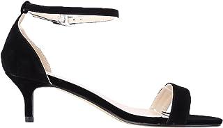 369f5217 WanYang Mujer Hebillas y Tiras en la Parte para Mujer Zapatos de Tacón de  Terciopelo Bajo
