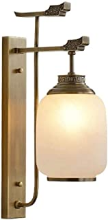 WZHZJ Wall Lamp - Garden Wall Lamp Bathroom Bathroom Mirror Lamp Bedroom Bedside Lamp Living Room Corridor Lamp