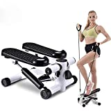 Stepper pour à la maison, Twister Stepper avec Power Ropes Rotary Stepper Sidestepper Advanced Up-Down-Stepper avec affichage multifonctionnel résistance du vélo d'exercice