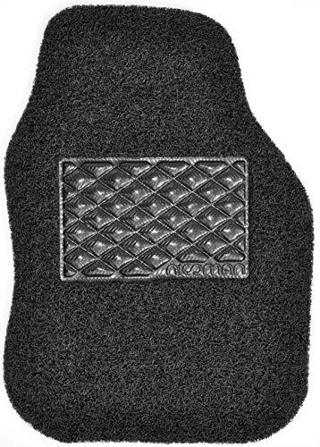 Nicoman Alfombrilla Universal Antideslizante de Goma de PVC Resistente y fácil de Limpiar, Color Negro (8 mm de Grosor), Lado del Conductor (1 Unidad)