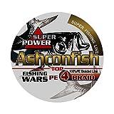 Ashconfish PEライン X4 釣り糸 200m ホワイト