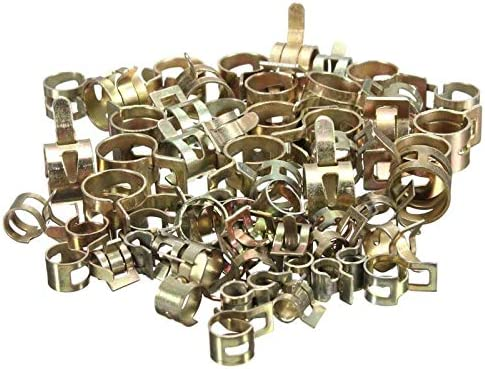 Size : 15mm HXSD 10Pcs Spring Clip Clamp Vacuum Fuel Hose Hose Clamp Line Pipe Fastener Steel Zinc Plated Clamps 6//7//8//9//10//11//12//13//14//15mm