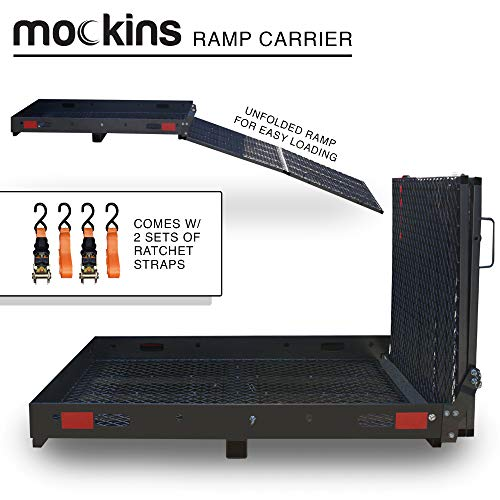 """Mockins Hitch Mounted Cargo Carrier with Ramp 
