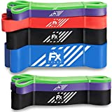 Pull Up Assistance Bands Set of 3 Resistance Bands for Assist Chin Ups - Exercise Bands for Crossfit Fitness Powerlifting Weight - Power & Weight Lifting for Men Women - Heavy Gym Latex Elastic Strap