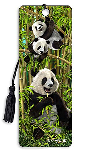 3D Lenticular Royce Bookmarks by Artgame - TOP Designs… (Panda Bears)
