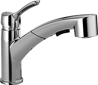 Delta Faucet Collins Single-Handle Kitchen Sink Faucet with Pull Out Sprayer and Magnetic Docking Spray Head, Chrome 4140-DST