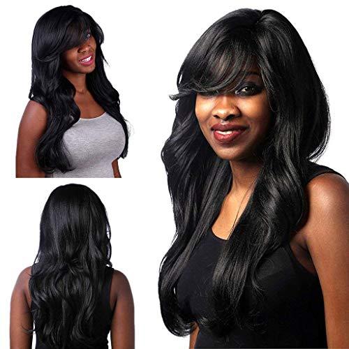 Perruque de Cheveux à Haute Température Femmes Madame Noires Courtes Brésiliennes Ondulées Bouclés Pas cher Fête 70 CM Lifting Personnalité