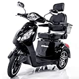 EWHEELS EW-36 Elite Recreational Electric Mobility Scooter for Adults with Electromagnetic Brakes, Black