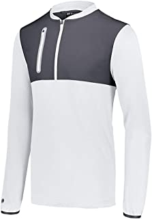 Holloway YTH WELD HYBRID PULLOVER WH/CARB M