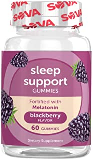 SOVA Nutrition Sleep Support - 60 Gummies - BlackBerry - with Melatonin for Rest & Recovery