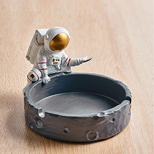 Cenicero con base antiarañazos, cenicero de astronauta creativo para el hogar, cenicero de mesa para jardín, oficina, decoración del hogar, idea de regalo para hombres y Día del Padre