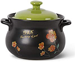 Health Pot Ceramics Casserole High Temperature Resistance Stewpan With Lid 2.8L