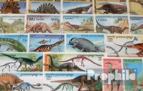 Prophila Collection Motivazioni 100 Diversi Preistorici Animali Francobolli (Francobolli per i Collezionisti) Anfibi / rettili / Dinosauro