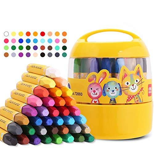 XIANGZI Crayons for Kids Ages 2-4,Toddler Crayons Ages 2-4 ,Coloring Crayons for Toddlers, 36 Colors Kids Crayons ,Party Favors for Kids, Birthdays, School Non Toxic Crayons.