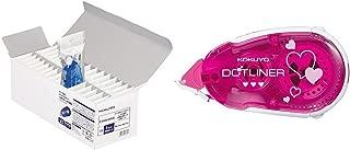 【セット買い】コクヨ テープのり のり ドットライナー 詰め替え 30個パック タ-D400-08X30 & テープのり のり ドットライナー 本体 ハート柄 タ-DM405-08