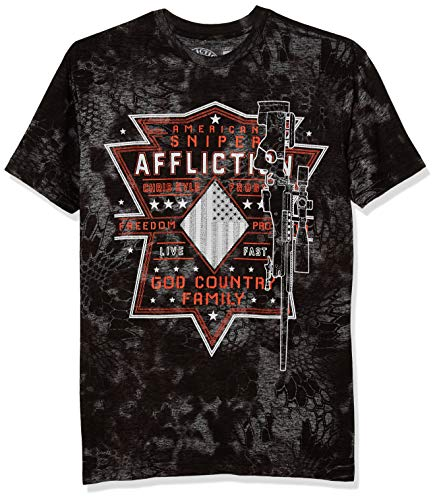Affliction Men's Modern/Fitted, Black, Medium