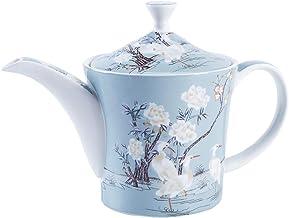 TOSISZ Juego de t/é Chino de cer/ámica de Porcelana Azul y Blanca Tetera 400ml Taza de Porcelana Tetera de remojo Juego de t/é Kungfu Taza para Beber 4