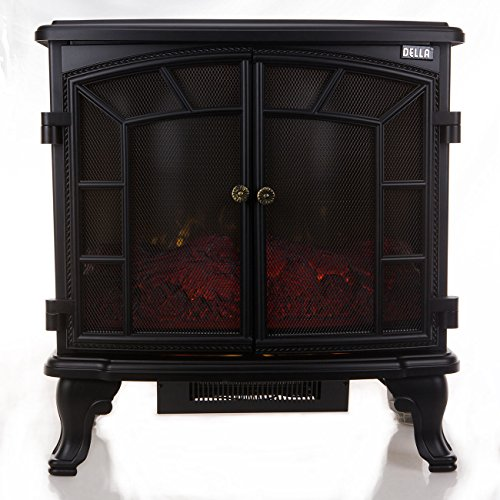1500W Adjustable Electric Fireplace Heater Warm w/ Remote Fire Flame Stove Wood...
