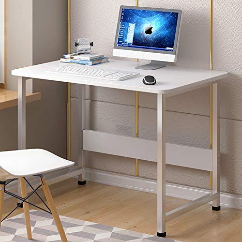 TELLMNZ Vereinfachende Schreibtisch Computertisch, Kompakt Metallrahmen Workstation Mit Regal, Computerschreibtisch Für zuhause Office Einfache Montage-Q 60x28x67cm(24x11x26inch)