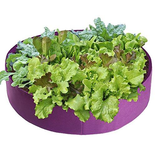 Sac de jardinage respirant Noir/violet pour jardinière de jardin 100Gallon violet