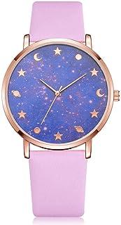 wall clock, Women's Wrist Watches Ladies Series Girls Watch Female for Women Women's Watch Quartz Starry Mirror pu Alloy,C...