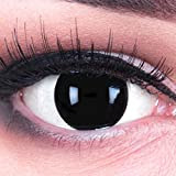 meralens -1paio di lenti a contatto colorate annuali, ottima qualità, per carnevale, con contenitore, non graduate